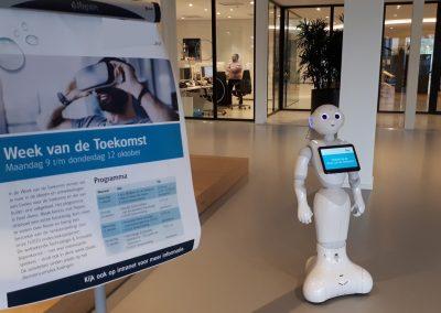 Roboter auf einer Innovationsveranstaltung
