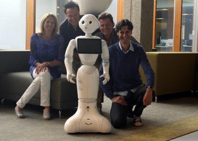 Pepper Roboter hat am Roboter Verleih angekommen, 4 juli 2016