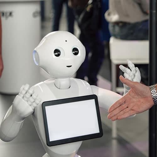 Social Pepper Roboter mieten, Roboterverleih